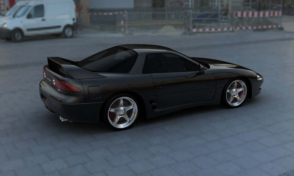 3d model of mitsubishi 3000gt rhino