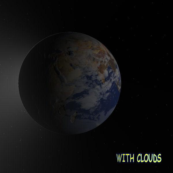 space earth 3d model
