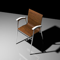 3d coffee-shop chair model