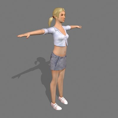 3d model female civilian