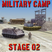 Military Army Camp St02 3DS