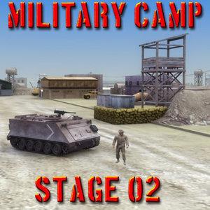 3d desert military vehicles model