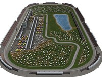 3d indianapolis road course indy race model