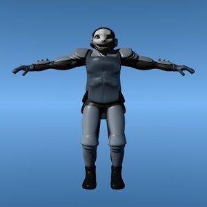 humanoid soldier model