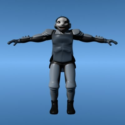 humanoid soldier model