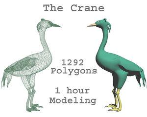 3d funny crane cran model