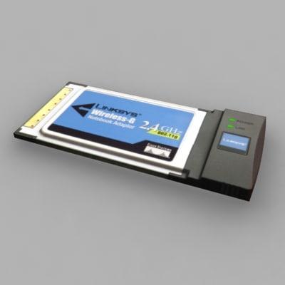 pcmcia card 3d model