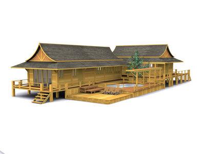 thai house 01 3d max