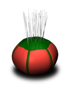 tomato pincushion pins obj