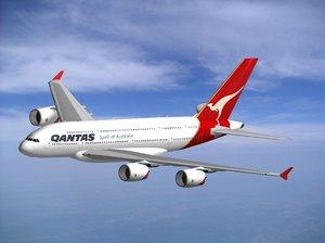 obj airbus a-380 qantas