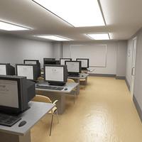class room classroom 3d max