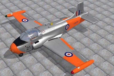 hunting jet provost 3d lwo