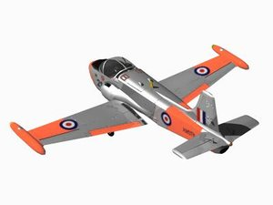 hunting jet provost 3d max