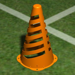 collapsible cone obj