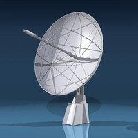 3d model sci satellite dish