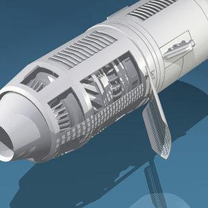 spaceship engine 3d 3ds