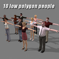 Low polygon people
