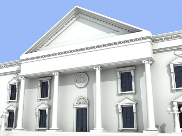 heritage building architecture 3d model