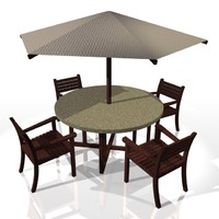 Table with parasol
