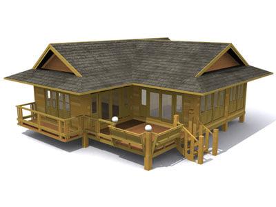 thai house 02 3d model