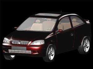 3d model opel astra