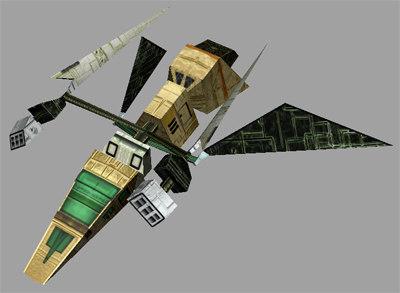 3d sci-fi alien set model