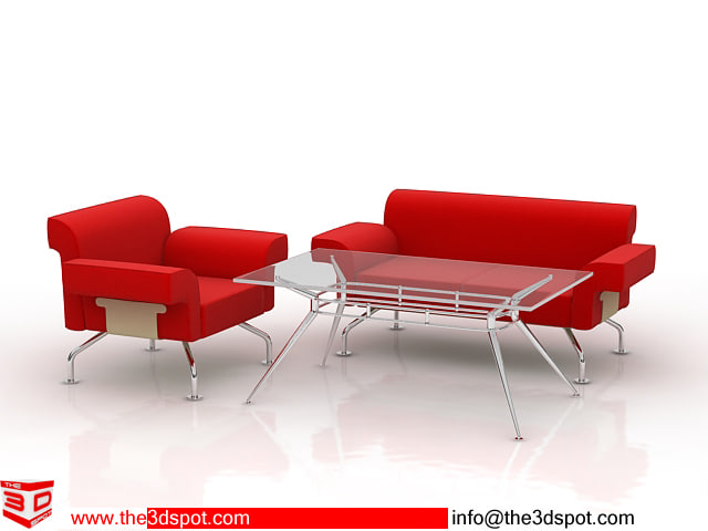table sofas 3d model