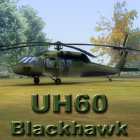 uh60l blackhawk transport helicopter 3ds