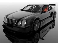 mercedes clk dtm 3d model