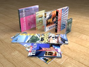 3d books magazines