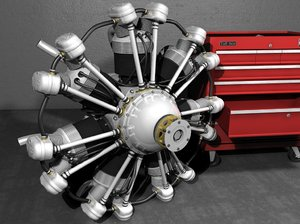 3d radial aircraft engine