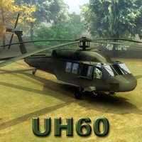 3d model uh60l blackhawk helicopter