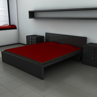 bedroom set bed 3d model