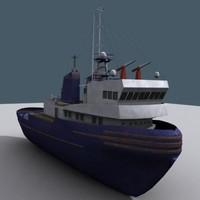 letojanni tug boat 3d model