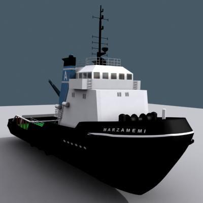 marzamemi tug boat 3d model
