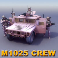3d model hmmwv crew games