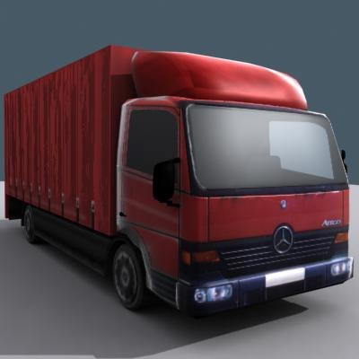 mercedes artego van 3d model