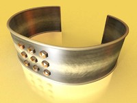 silver bracelet brushed metal max