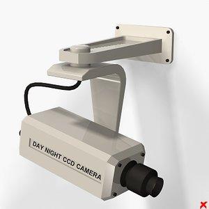 3d model of security camera