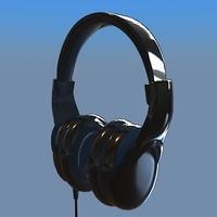 3d model realistic headphones