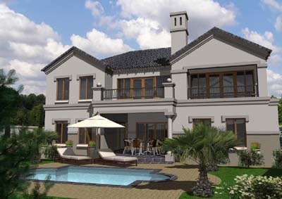 maya house fully modelled