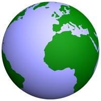 3d model world continents vector