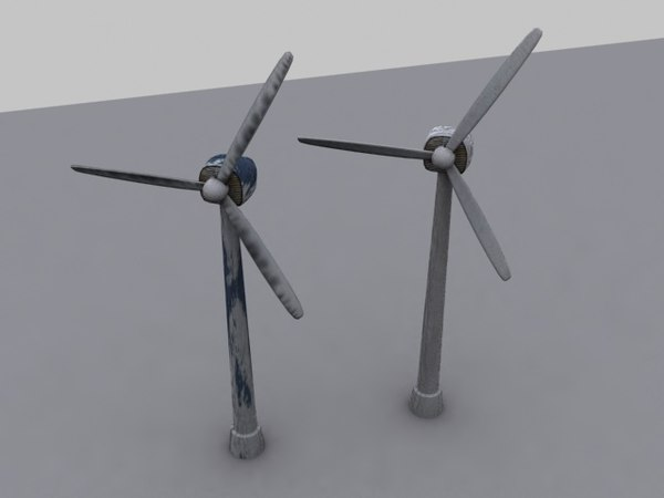 electricity windmill new 3d max