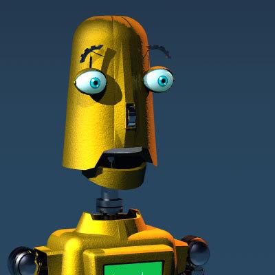 3ds max cartoon robot