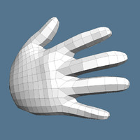 free 3ds model cartoon hand