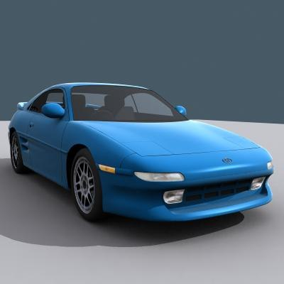 toyota mr2 mk2 3d model