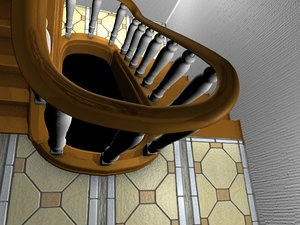 3d model endless staircase