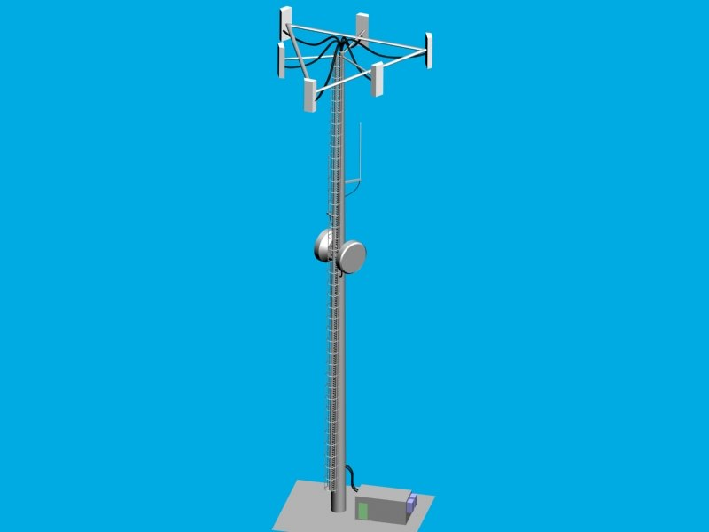 3d cellular phone tower cell model
