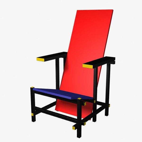 free 3ds mode rietvelt chair