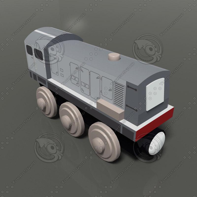 toy train 3d max